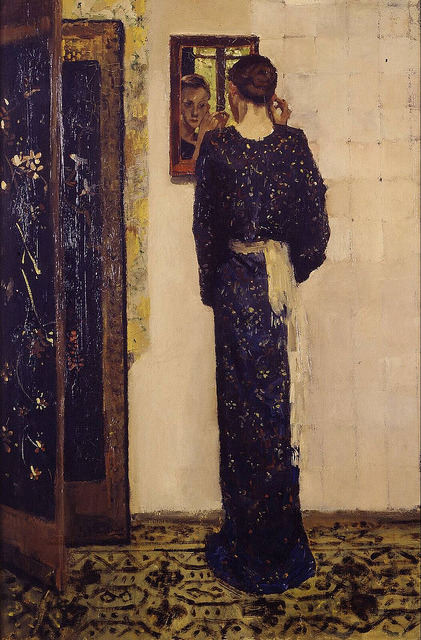 toomuchart:  flyingodiva: George Hendrik Breitner, The Earring, 1893. image with zoom