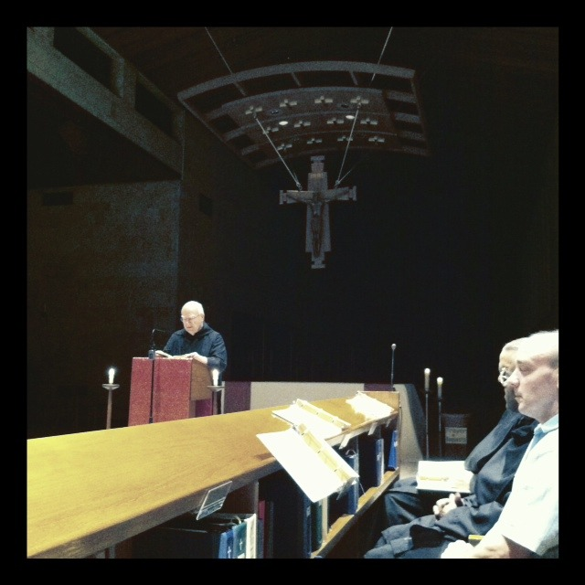 Br. Benet reading at Vigils