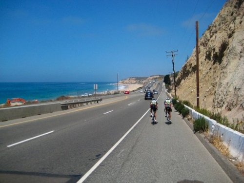 Rolling it down PCH as a junior.  Awesome ride before the National Championship. Really fun trip. Looking forward to this coming season.