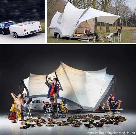 Act II: Debut of the Sydney Opera-Inspired Camper-Trailer | via Dornob