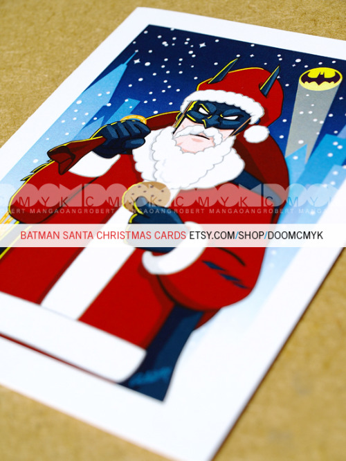 dcu:  A nice little item from doomsdaily:  Batman Santa Christmas Cards. Available at: http://www.etsy.com/shop/doomcmyk