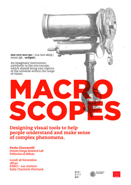 « Macroscopes - Designing visual tools to help people understand and make sense of complex phenomena »