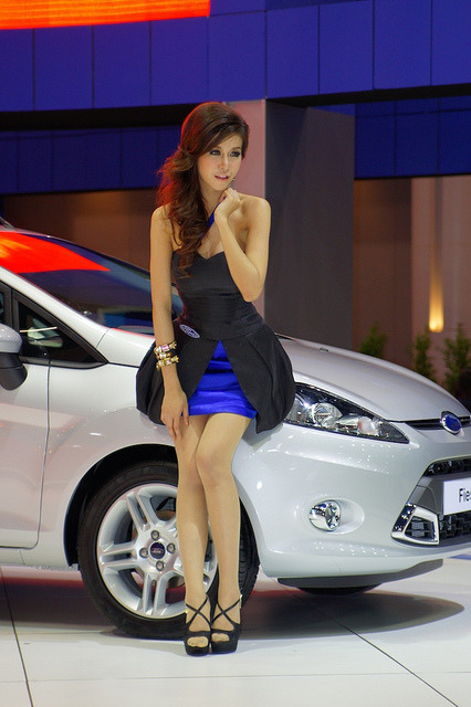 Girls and cars - another motor show in Bangkok by UweBKK (α 550 on ) on Flickr.