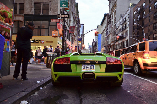Ithaca Verde Lamborghini Murcielago LP640 Roadster in New York City. Photo by Klaus Kniehase.