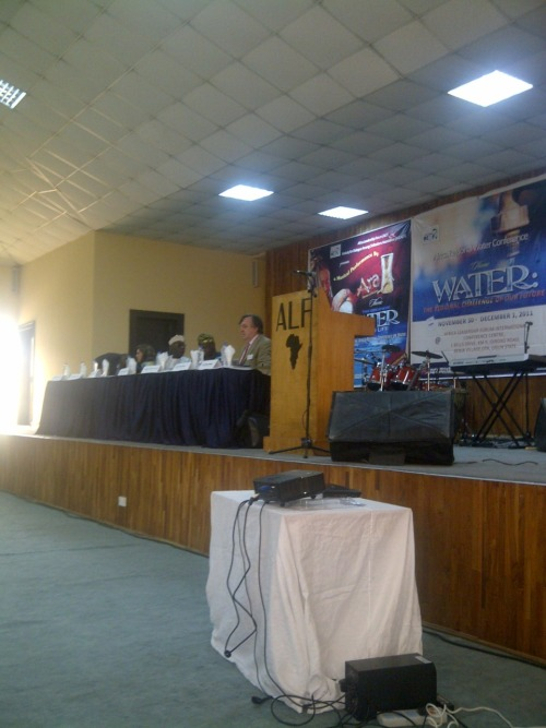 The stage is set at the #water4africa meeting.