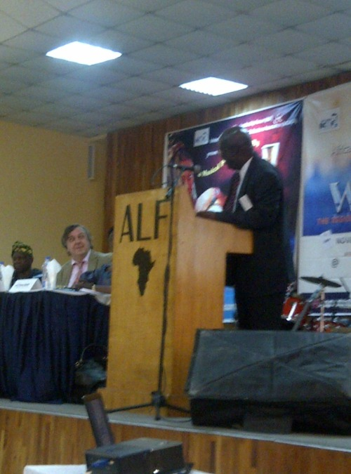 Dr. Stephen Donkor (Chair of UN Water Africa) on the stage now.
