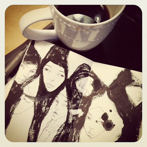 Sketching & Coffeeing (by { stella im hultberg })