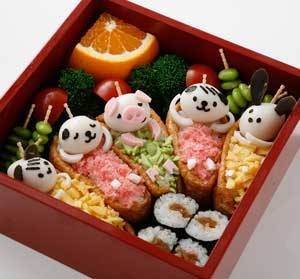 Kawaii animal bento Awwhh they look so sleepy X3
