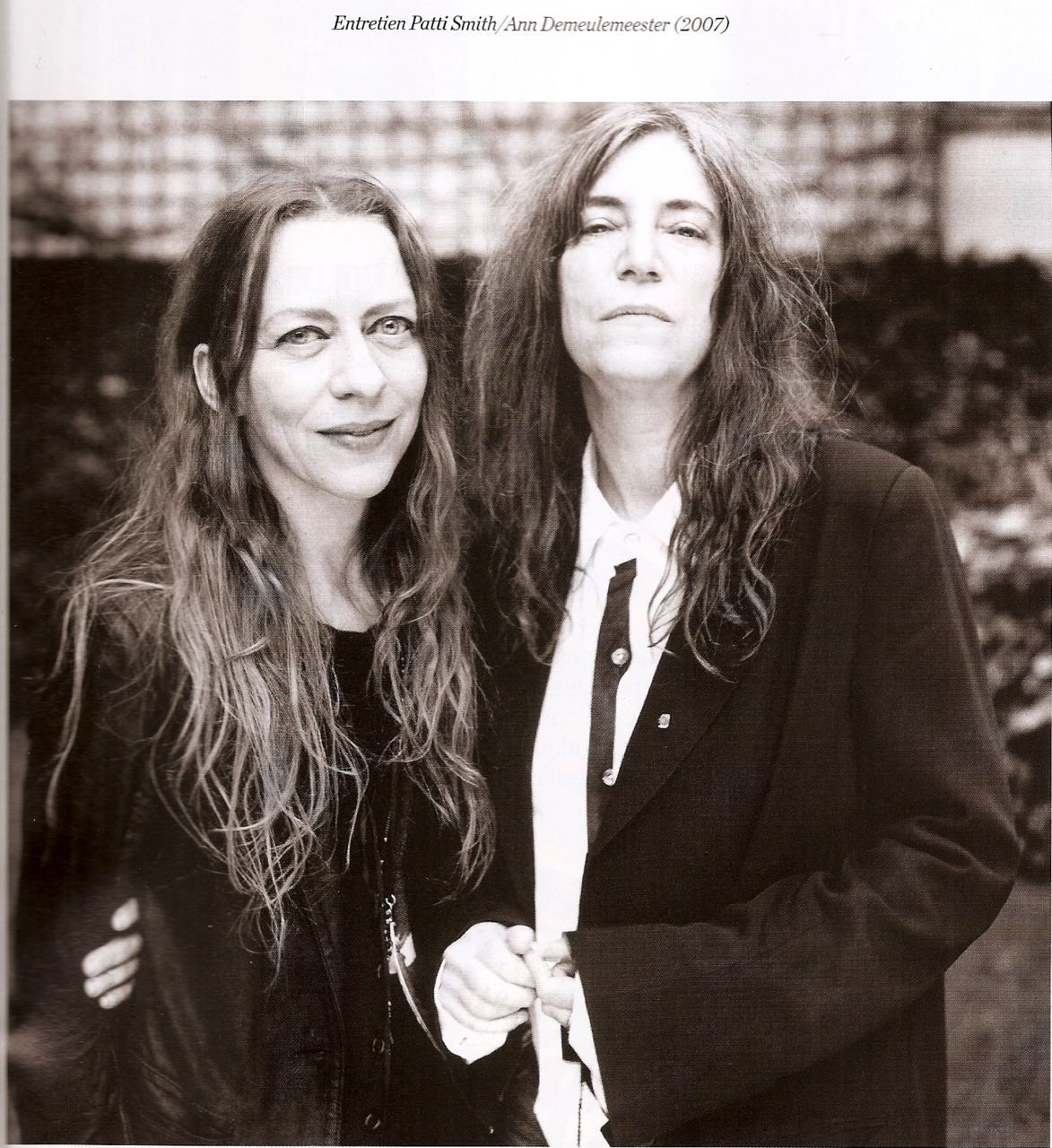 Ann Deleumeester & Patti Smith 2007 scanned by: sogoddamnyoung