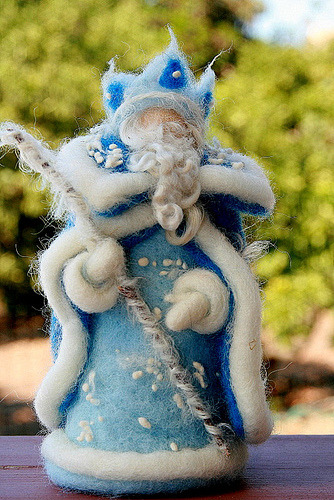 Needle felted King winter (by heart'felt'passion)