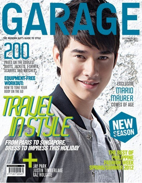 Mario Maurer covers Garage Magazine December 2011-January 2012 Issue