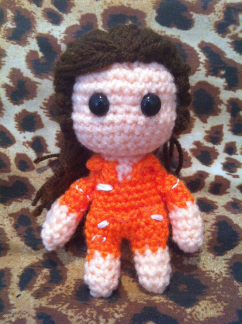 Hand Crocheted Chell from Portal