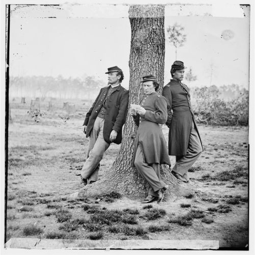 casual mydaguerreotypeboyfriend:  Three officers of the 1st Connecticut Heavy Artillery, Fort Brady, VA. (Library of Congress Prints and Photographs Division). Submitted by thathistorychick