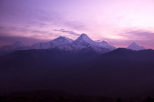 At the Break of Dawn - Annapurna Range (by Zolashine)