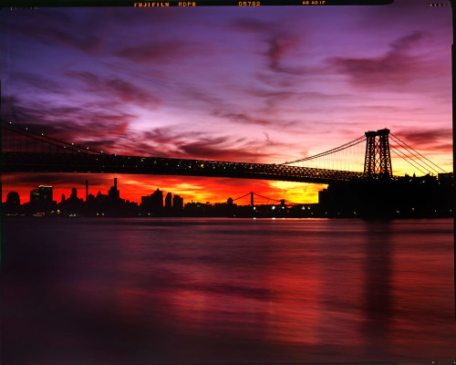 Red Sky, Williamsburg Bridge, New York. www.lindsayblairbrown.com