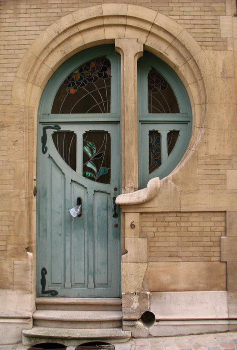 stalledcarousel:  Art Nouveau door in Belgium  This is actually fantastic design.