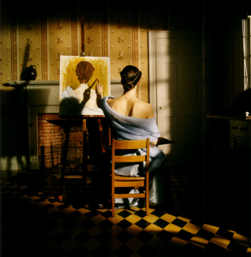 crashinglybeautiful:  Rodney Smith, Caroline Painting from Behind. Thank you, artemisdreaming.