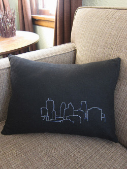 I want this bloglocally:  Minneapolis Skyline Pillow made by @@craftyenough