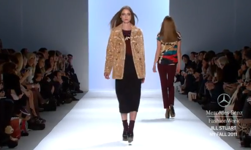 VIDEO:  JILL STUART Autumn/Winter 2011, New York.