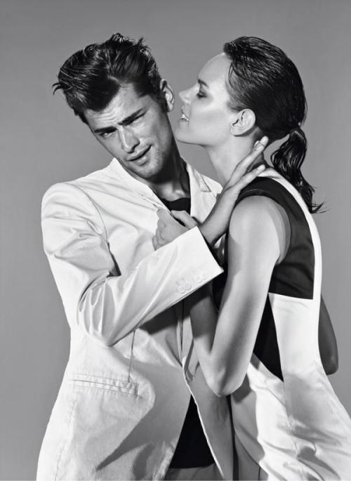 Hugo by Hugo Boss SS 12. Freja Beha Erichsen and Sean O'Pry by Alexei Hay.
