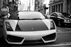 Lamborghini in Black and White by JoelZimmer on Flickr.