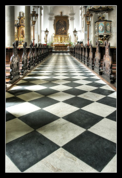 Black & White Tile Floor HDR's, a gallery by HuTDoG83 on Flickr.Via Flickr: I love the way that checker floors look in HDR's!  It really pulls out the grittiness and detail of them.Photos by Jörg Dickmann, shexbeer, [StaticPulse] - www.TheOtherSide.be and s.j.pettersson