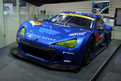 "mikespinelli:  Subaru BRZ ""Super GT"" racecar concept at the Tokyo Motor Show.  could end up being a little bit of fun"
