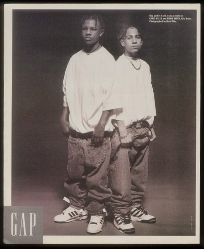 howtotalktogirlsatparties:  Kris Kross for GAP.    Oh ok so that's how we're playing it.