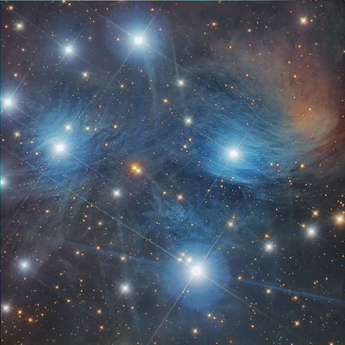 M45 Star and Stripes  Copyright: Marco Angelini and Fabio Tagliani (acquisition); Francesco Antonucci (processing)