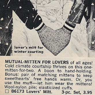 modcloth:  …until we discovered this vintage ad for the Mutual-Mitten for Lovers. (by clair_voyant)