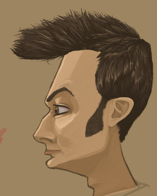 Progress on the David Tennant part of this piece.