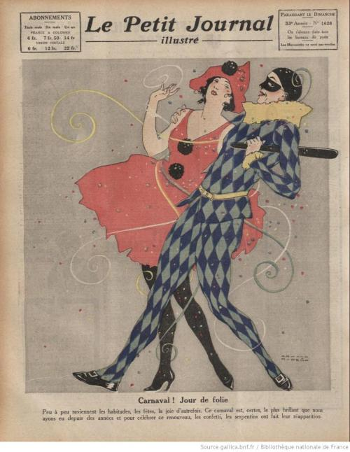 Wonderful Carnival costumes from Le Petit Journal, 1920.