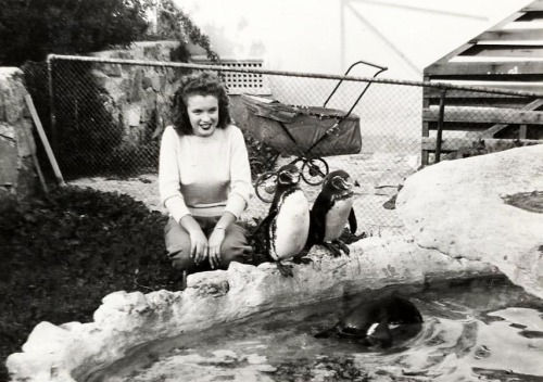 Norma Jeane on Catalina Island c. 1943