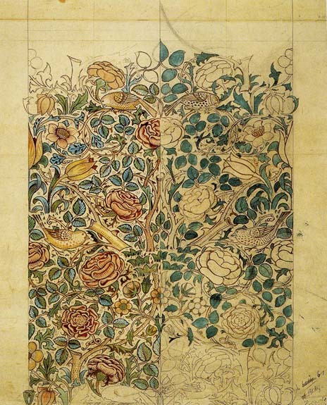 carnetimages-8:  Illustration: William Morris. Rose, 1883 via la vie est belle