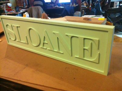 A new sign for Sloane Boutique. Next step some paint.