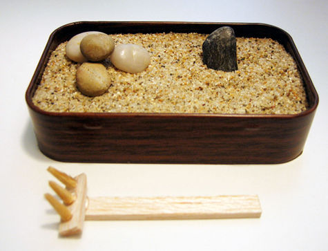 Hey Raif, check out this DIY sand garden made out of an old Altoid tin.  It's time to get crafty.