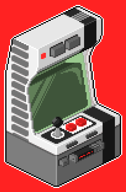 Pixel Art Arcade cabinet Nintendo Entertainment System (NES)