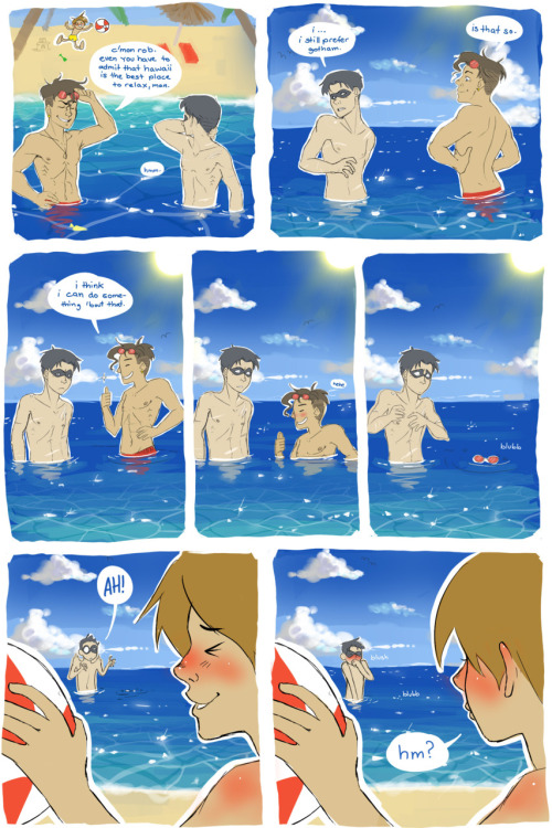 colors-and-impulse:  The boys are having fun in Hawaii <3 (Biiiiig size here)