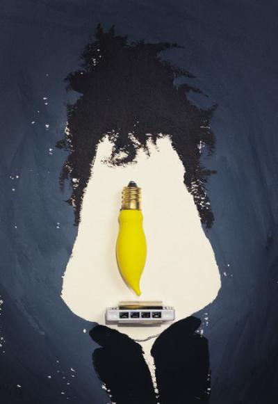 Bob Dylan by Hanoch Piven. Portraits out of anything. Milk&HoneyArt