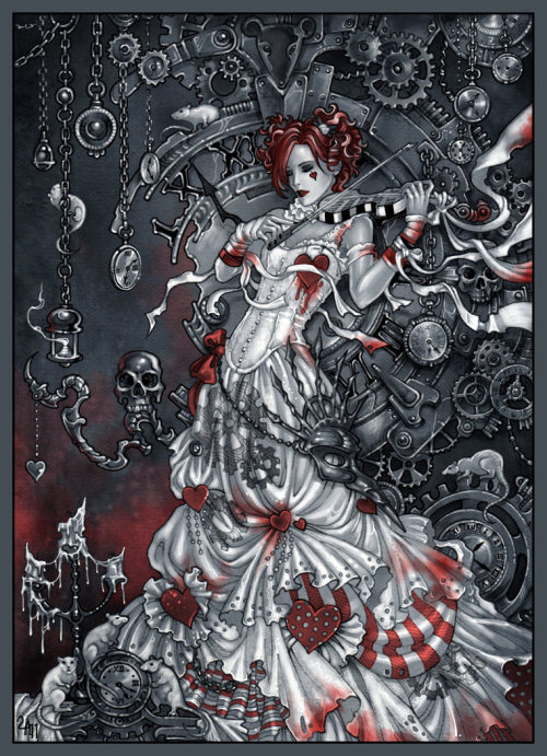dianamcqueen:  arashikami:  Emilie Autumn | by Candra [deviantART]  Fucking beautiful.