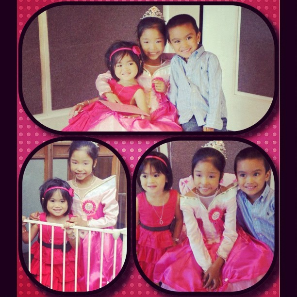 The Cuties. #lovely #kids #pretty #handsome #pink #blue #7th #birthday #london #chiswick #party #framemagic #happy (Taken with instagram)