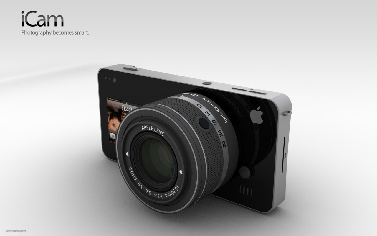 iCam - the iPhone 5 Concept Camera   So basically it's an interchangeable lens camera that your phone would hook into. Pretty great concept. The only thing I could see being an issue is battery power. Hopefully by then though the batteries on our phones will have double the life :)