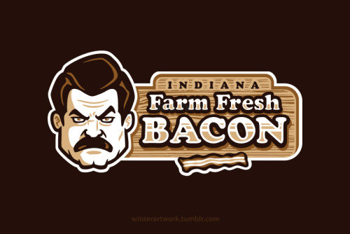 """Farm Fresh Bacon"" available HERE twitter - facebook - deviant art"