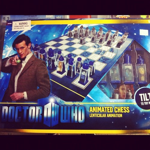 For that special Whovian in your life- The Doctor Who chess set  (Taken with Instagram at Gallifrey)