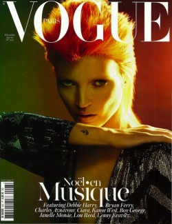 (via Kate Moss Channels David Bowie's Ziggy Stardust on the Cover of Vogue Paris – Fashionista: Fashion Industry News, Designers, Runway Shows, Style Advice)