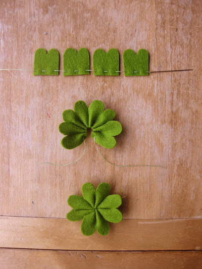 friedpears:  DIY Felt 4-Leaf Clover tutorial