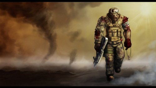 Wallpaper - Last man standing… by *saimensez
