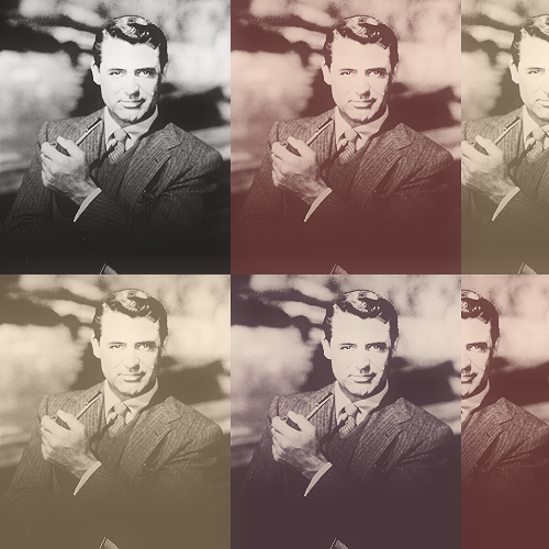 "pigmentcouleur:  (+) cary grant black & white multiple coloring psd / ""like"" or reblog  if you are downloading / find here"