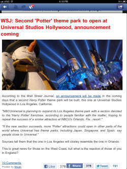 This has just completely made my Christmas.  Harry Potter Theme Park in Universal Studios, Los Angeles <3