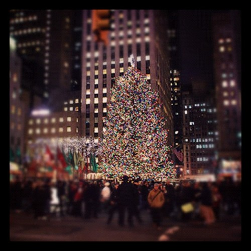 The tree looks awesome this year! (Taken with Instagram at 30 Rockefeller Plaza, New York City)